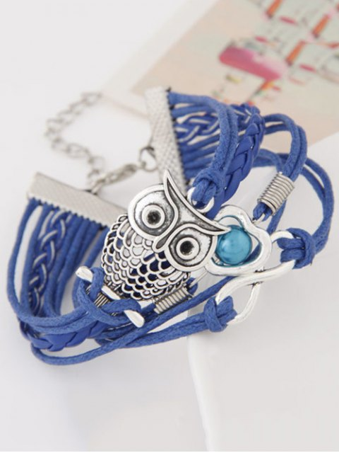 shops Owl Infinity Heart Braided Bracelet -   Mobile