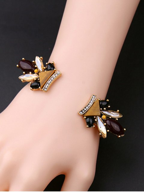 lady Rhinestone Triangle Cuff Bracelet -   Mobile