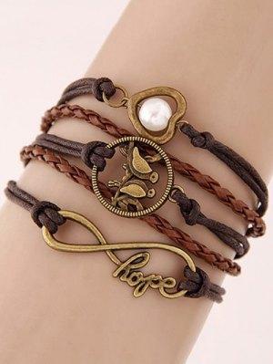 Infinity Birdie Braided Bracelet