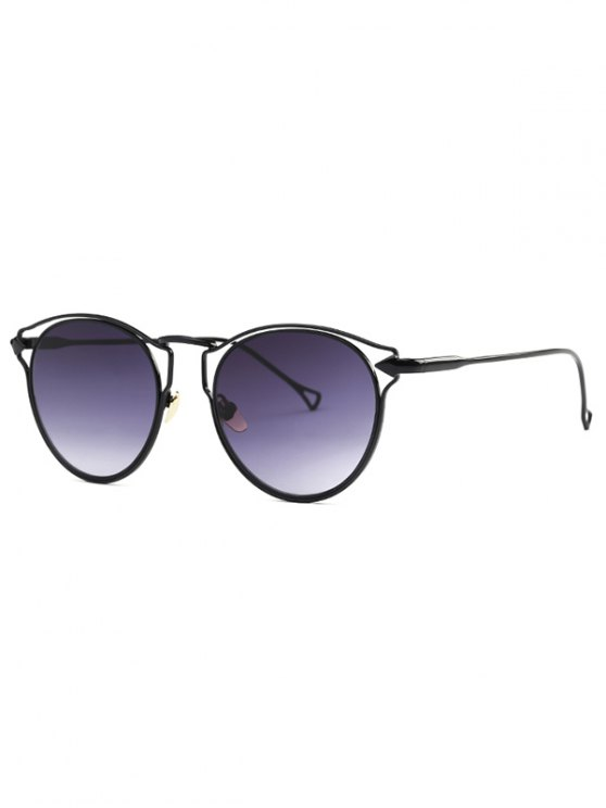 hot Black Arrow Cat Eye Sunglasses - BLACK