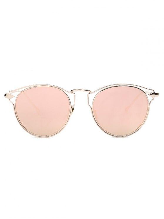 Arrow Cat Eye Mirrored Sunglasses - PINK  Mobile