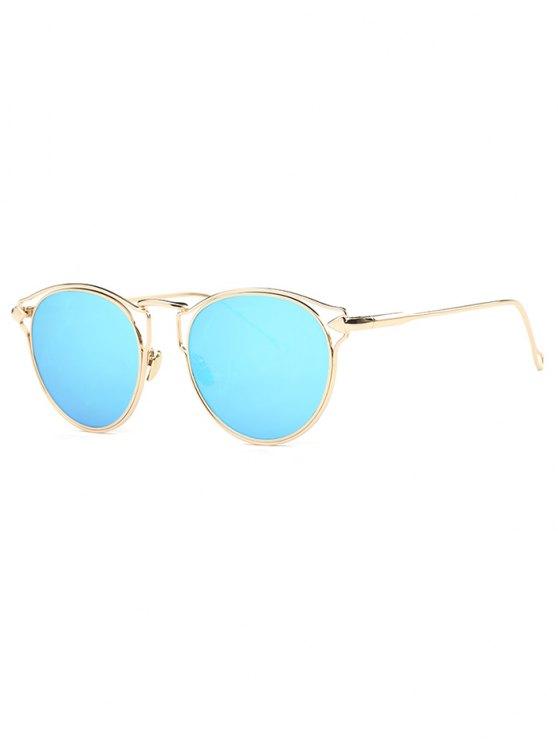 shops Arrow Cat Eye Mirrored Sunglasses - LIGHT BLUE