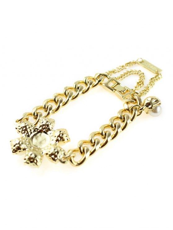 Punk Faux Pearl Bracelet - GOLDEN  Mobile