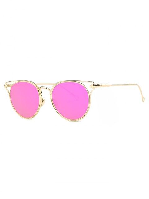 latest Arrow Cat Eye Mirrored Sunglasses - ROSE  Mobile