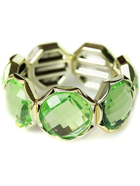 outfits Punk Faux Crystal Bracelet - GREEN  Mobile