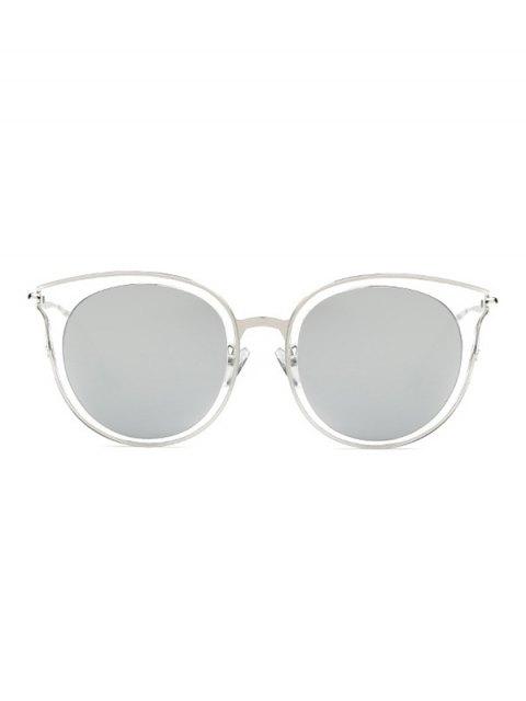 womens Transparent Cat Eye Mirrored Sunglasses - LIGHT GRAY  Mobile
