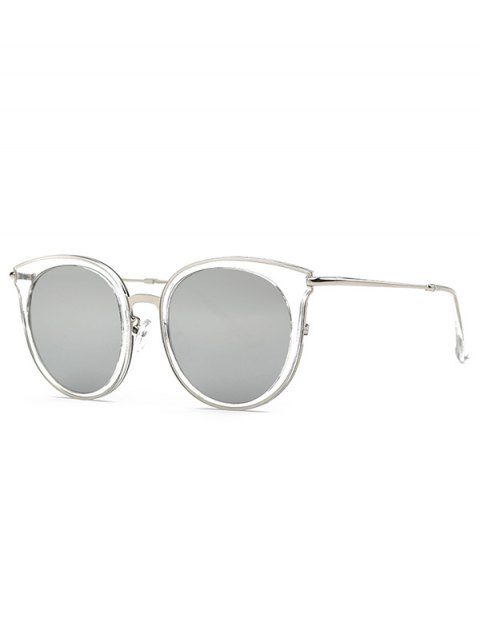 womens Transparent Cat Eye Mirrored Sunglasses - LIGHT GRAY  Mobile