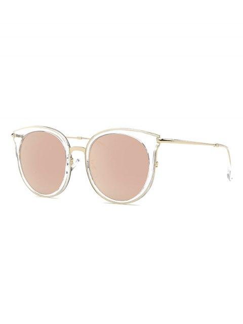 women Transparent Cat Eye Mirrored Sunglasses - ROSE GOLD  Mobile