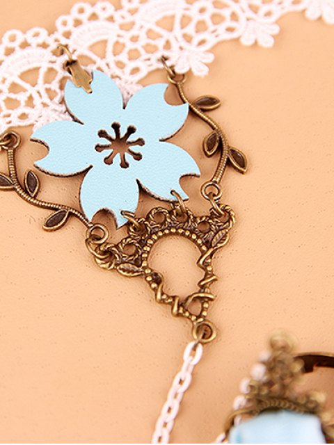 women's Filigree Branch Lace Bracelet with Ring -   Mobile