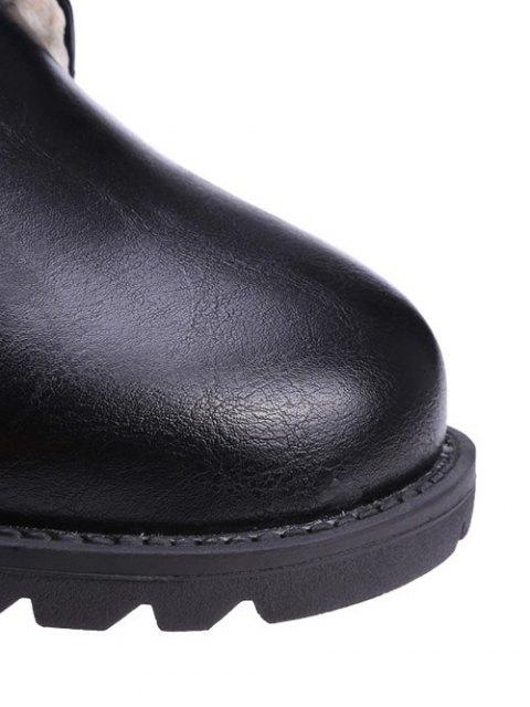 outfits Black Color Lace-Up Combat Boots - BLACK 39 Mobile