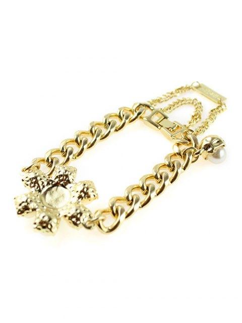 hot Punk Faux Pearl Bracelet - GOLDEN  Mobile