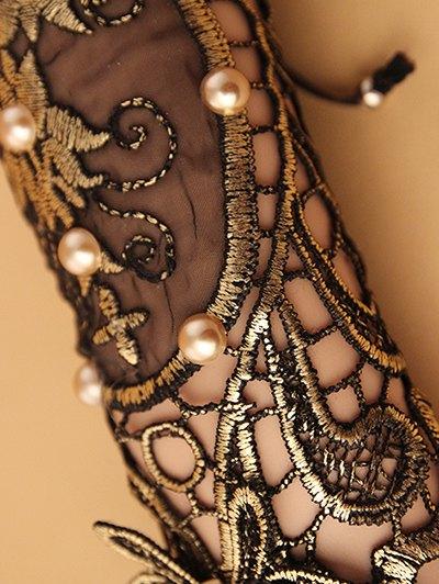 Faux Pearl Rose Lace Glove Bracelet - COLORMIX  Mobile