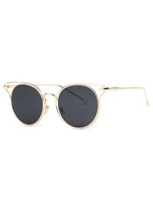 Golden Arrow Cat Eye Sunglasses - Golden