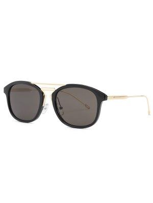 Geometry Nose Bridge Black Sunglasses - Black