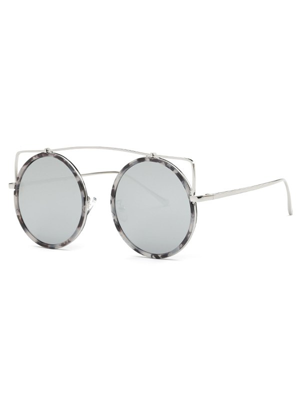 Image of Crossbar Round Marble Sunglasses