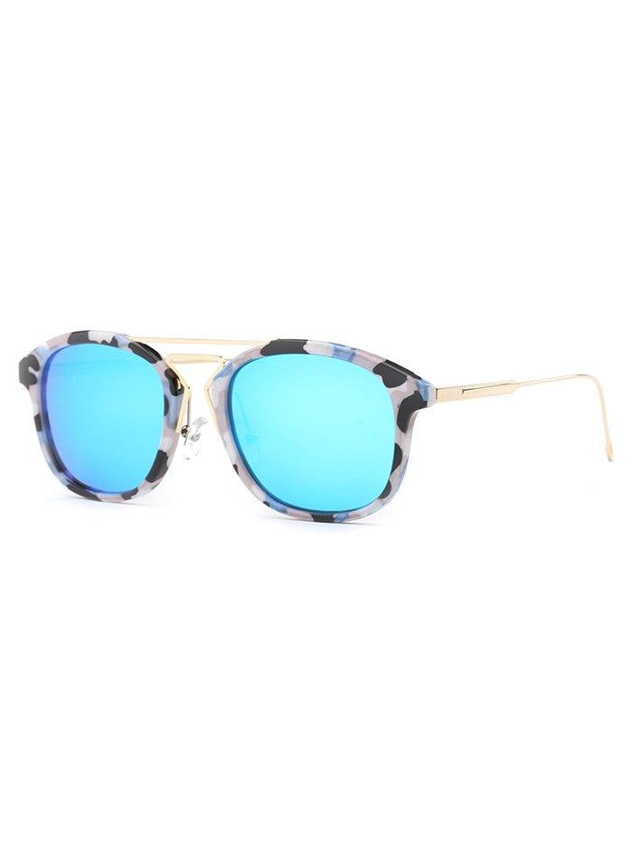 Stylish Geometry Nose Bridge Camouflage Sunglasses