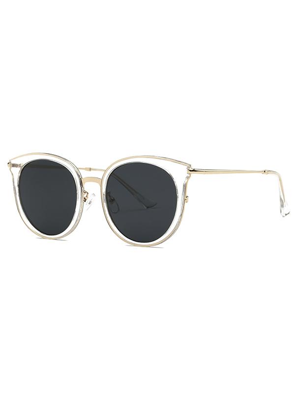 Stylish Black Lens Cat Eye Sunglasses