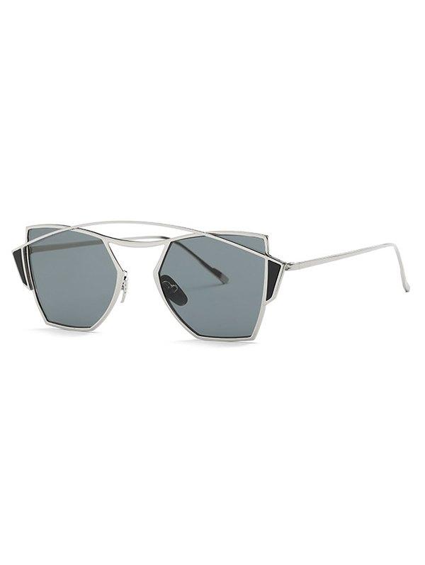 Stylish Crossbar Irregular Sunglasses