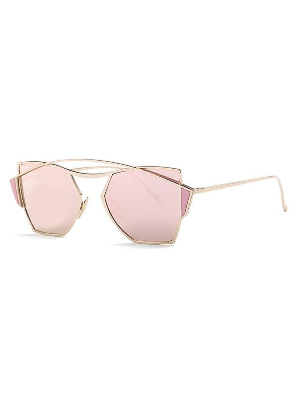 Stylish Crossbar Mirrored Irregular Sunglasses