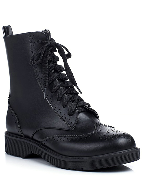 Engraving Design Short Boots For Women