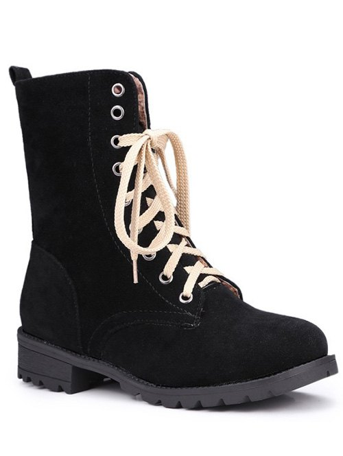 Lace-Up Design Combat Boots For Women
