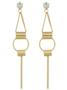 Alloy Rhinestone Geometric Drop Earrings