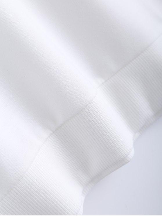Pure Color Sweatshirt - WHITE S Mobile