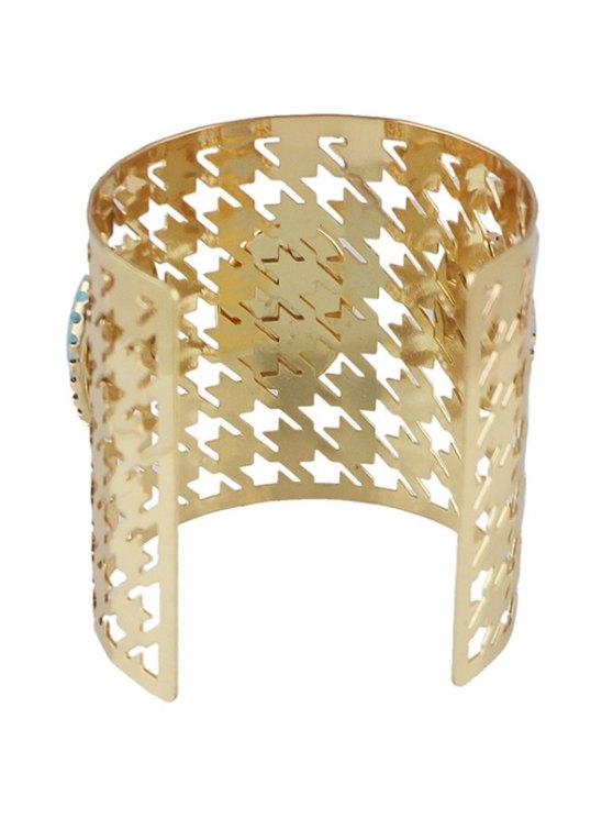 Faux Rammel Oval Cuff Bracelet -   Mobile