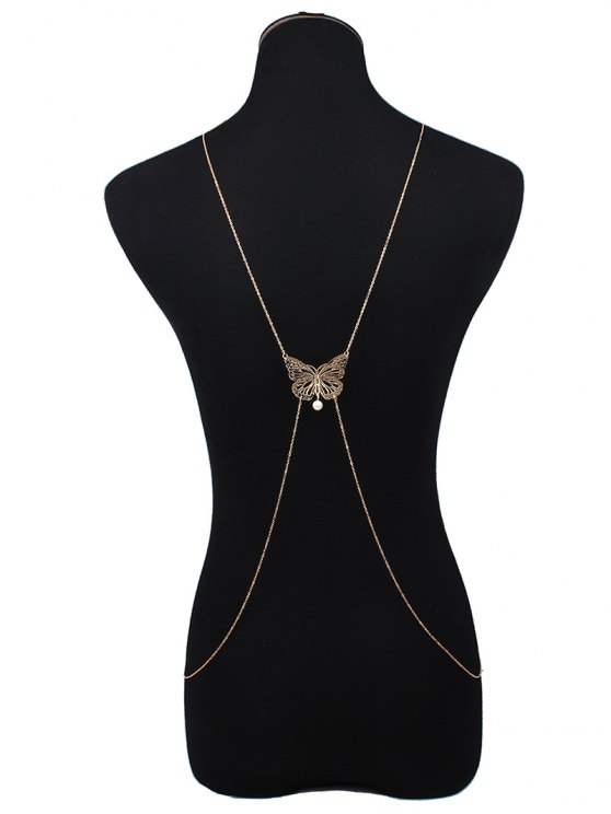 Cut Out Butterfly Body Chain - GOLDEN  Mobile