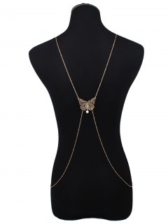 Cut Out Butterfly Body Chain - Golden