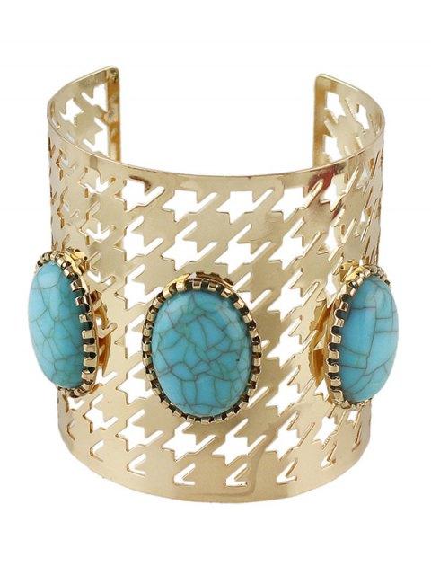 online Faux Rammel Oval Cuff Bracelet -   Mobile