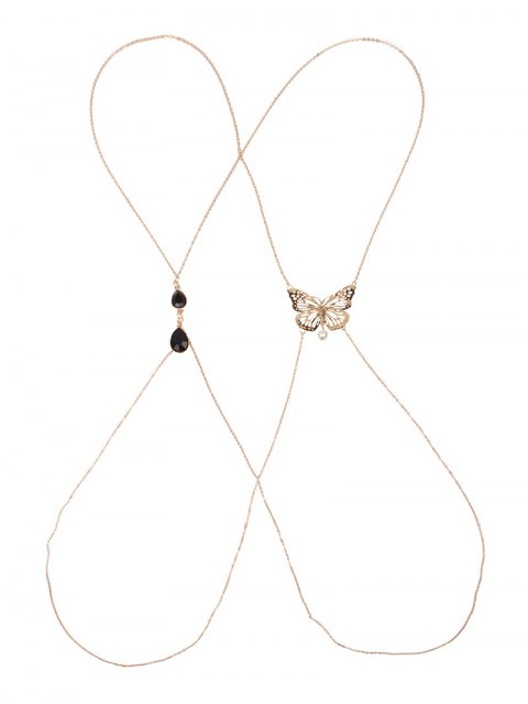 women Cut Out Butterfly Body Chain - GOLDEN  Mobile