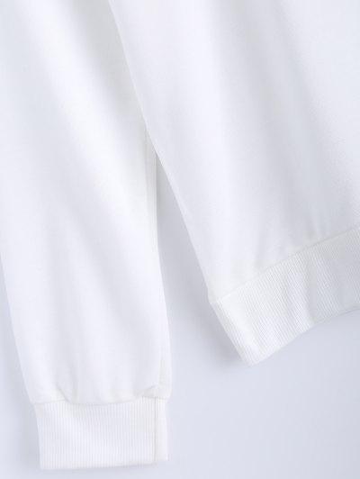 Pure Color Sweatshirt - WHITE XL Mobile