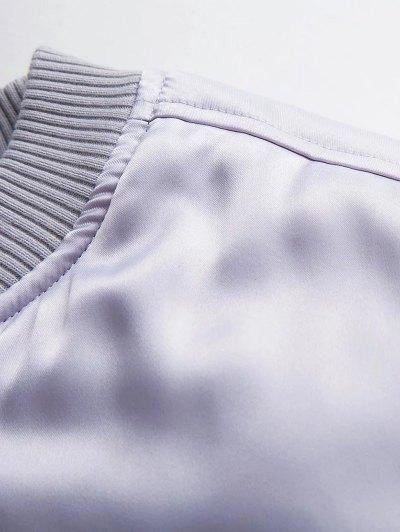 Zipped Windbreaker Jacket - SILVER S Mobile