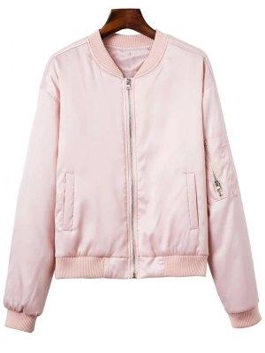Zipped Windbreaker Jacket - Pink