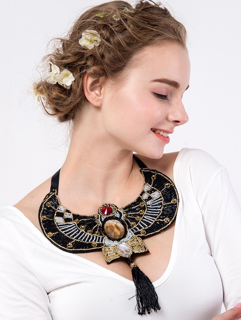 Rhinestone Eagle Beaded Necklace