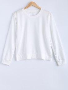 Pure Color Sweatshirt - White
