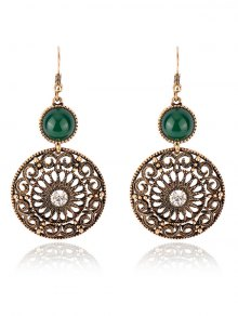 Rhinestone Filigree Floral Earrings