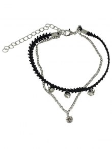 Rhinestone Multilayered Chain Anklet
