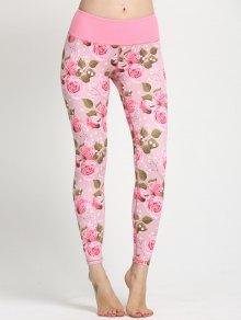 Floral Print Curve Leggings