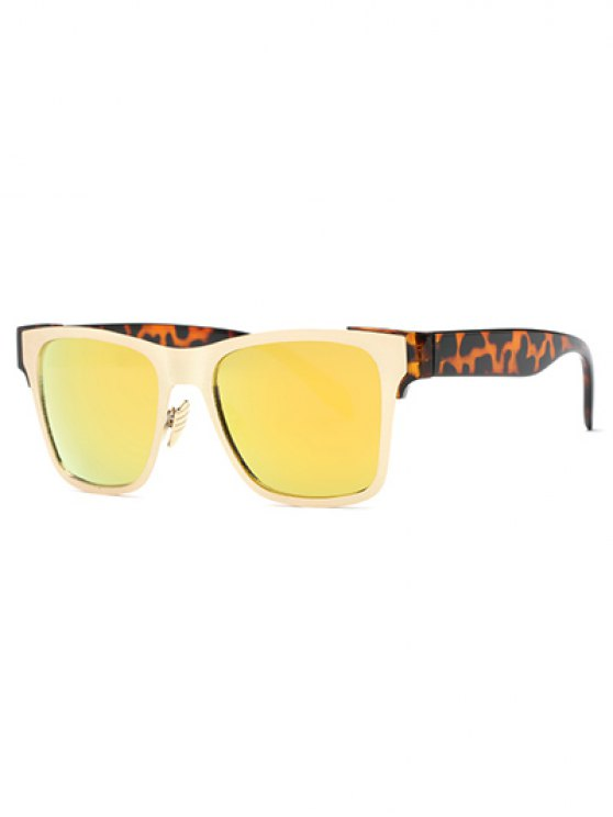 outfit Leopard Leg Mirrored Wayfarer Sunglasses - YELLOW