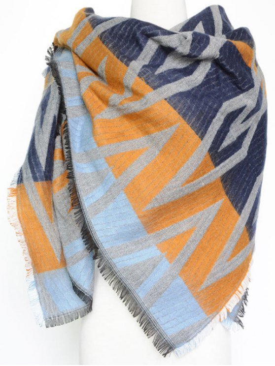 Winter Geometry Rhombus Scarf -   Mobile
