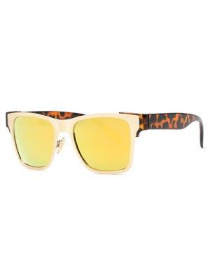 Leopardo De La Pierna Con Espejo Gafas De Sol Wayfarer - Amarillo