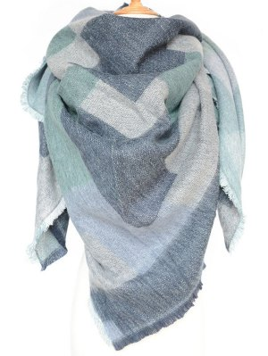 Winter Geometry Scarf - Blue
