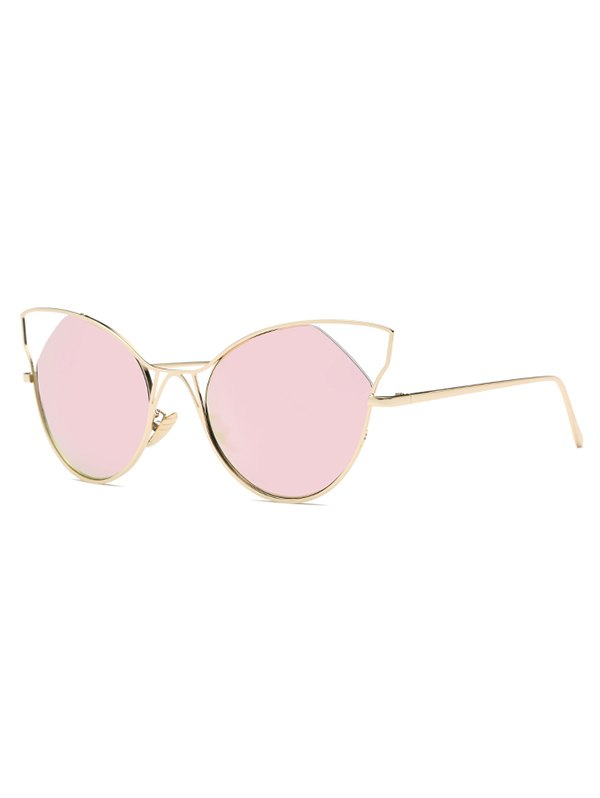 Stylish Cut Out Cat Ear Mirrored Sunglasses