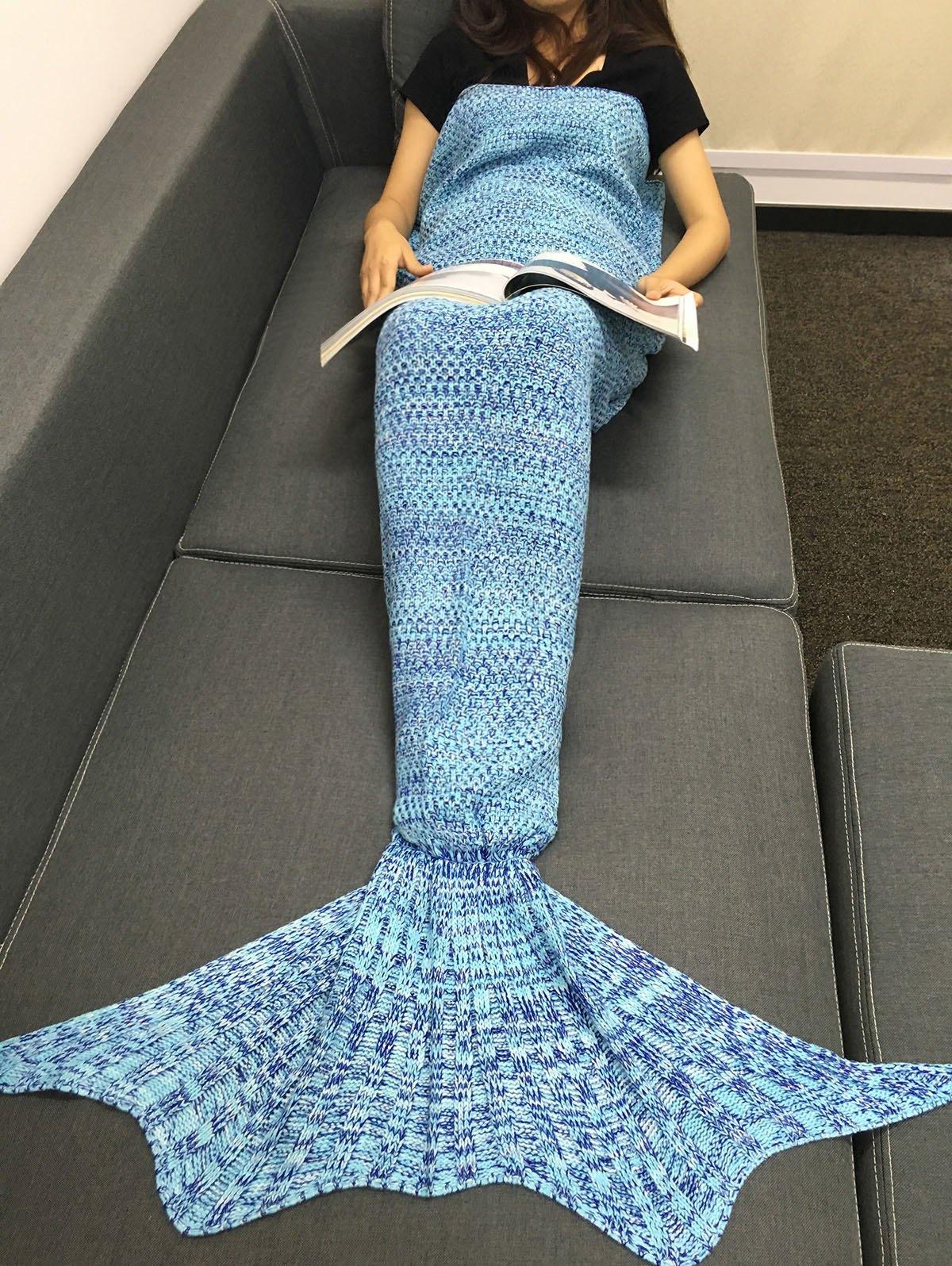 Knitting Sleeping Bag Fish Tail Design Blanket