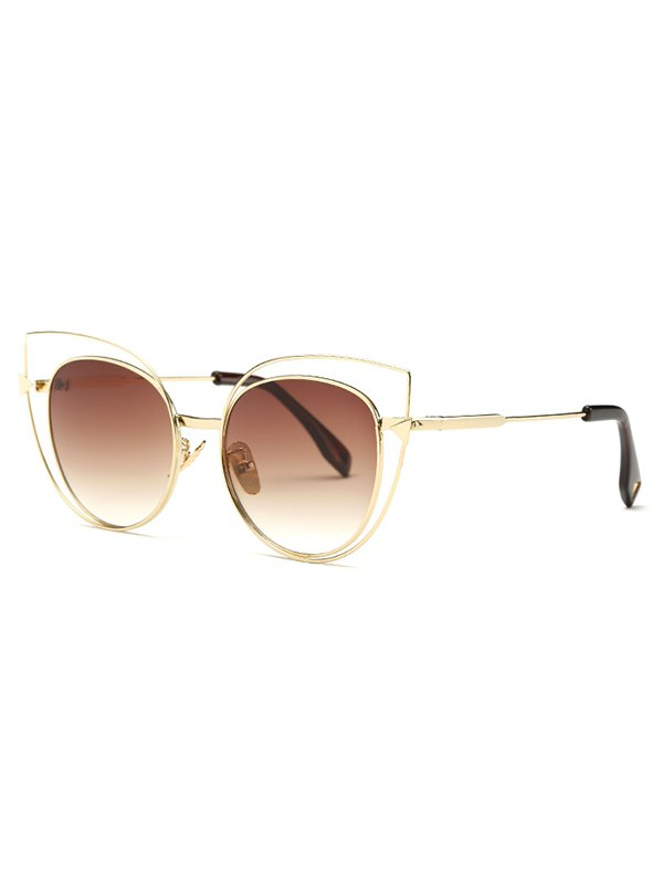 Stylish Hollow Out Cat Eye Sunglasses