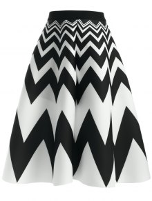 Zig Zag High Waisted Skirt