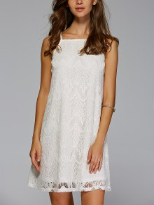 Crochet Solid Color Cami Dress