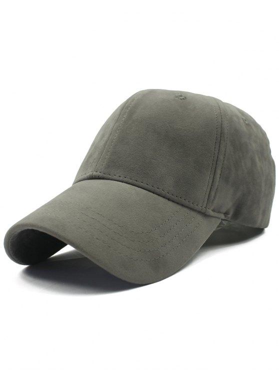 Ajustable de la hebilla del ante del Faux del sombrero de béisbol - Gris
